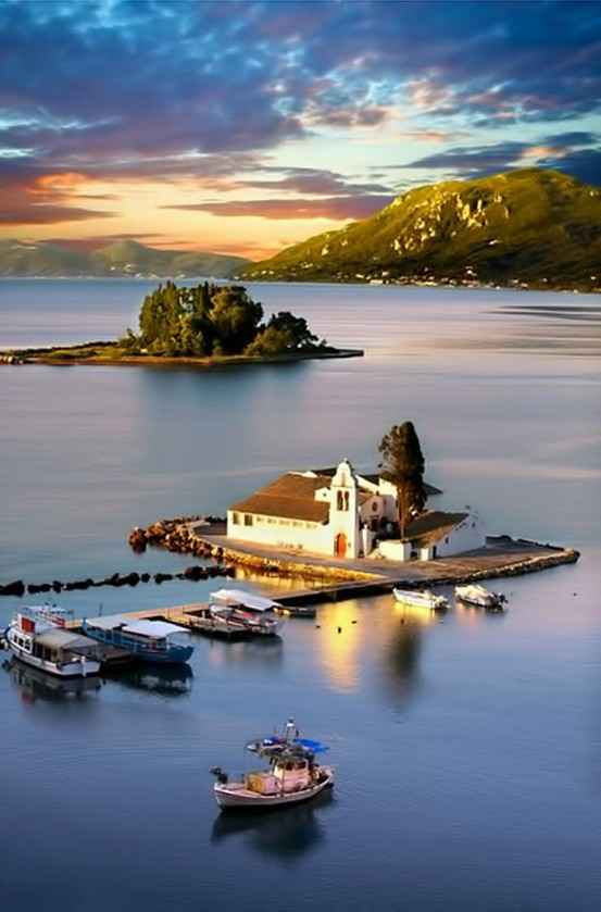 Corfu Island Greece  City pictures : Pontikonisi, Corfu island, Greece. | Simple & Interesting.