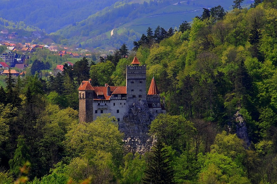 bran castle situated near bran and in the immediate vicinity of brasov