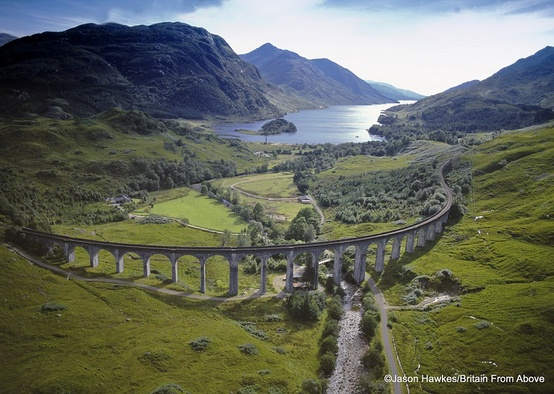 The Glenfinnan Viaduct in Scotland