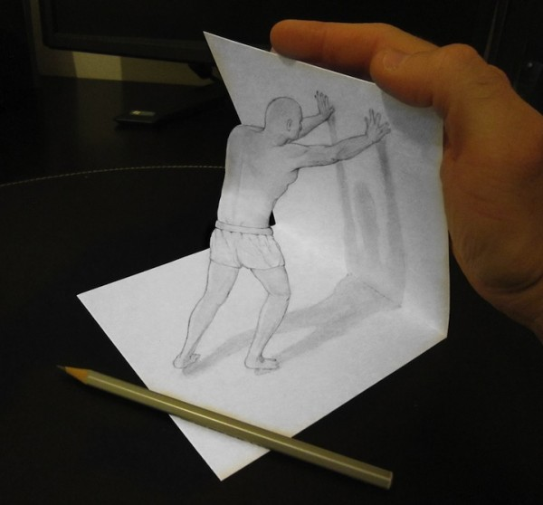 easy 3d drawings on paper - photo #10