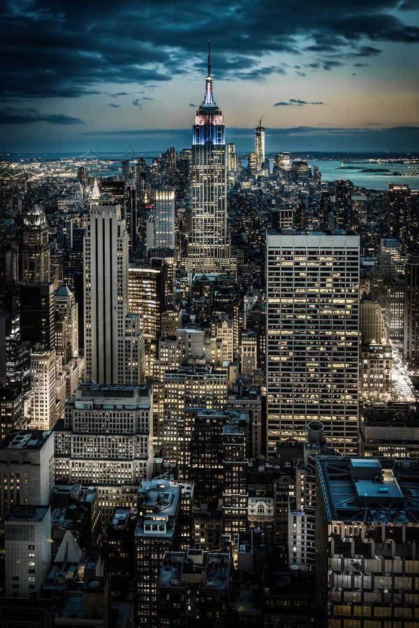 Sunset Over Manhattan - New York