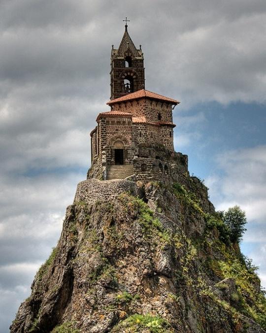 The Chapelle Saint- Michel D' Aiguilhe , near Le Puy en Valey, France