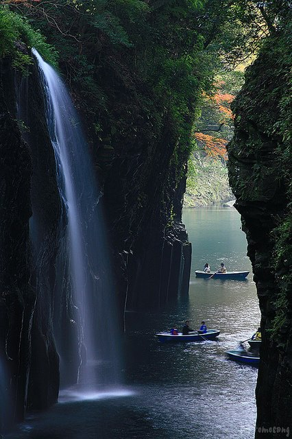 29Beautiful waterfalls in Takachiho Gorge, Miyazaki prefecture, Japan
