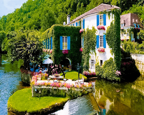 River Side, Brantome, France photo via claudia