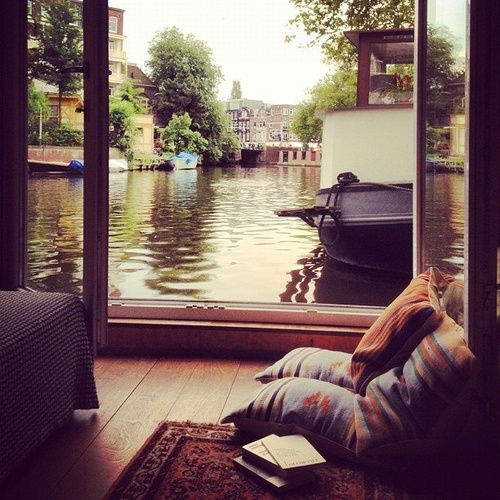 18Houseboat View, Amsterdam, The Netherlands photo via little