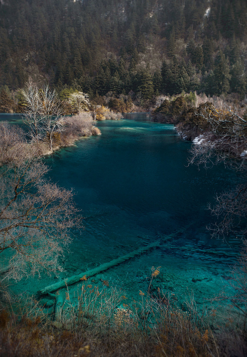 20Turquoise lake at Jiuzhaigou, China