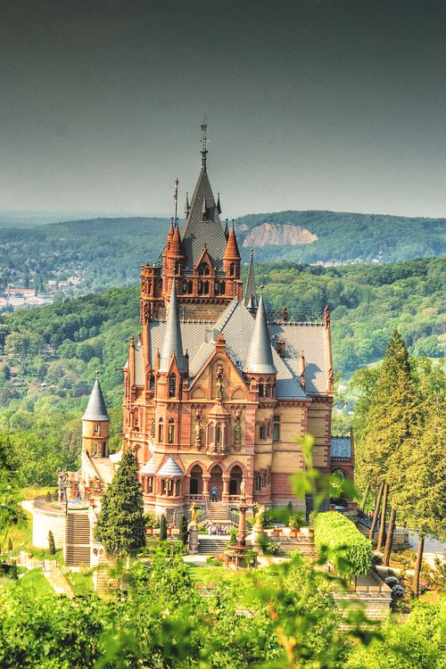 Castle Drachenburg, Königswinter, Germany photo via silke