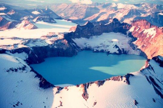 25Crater Lake, Mount Katmai – Alaska, USA by captain budd christman