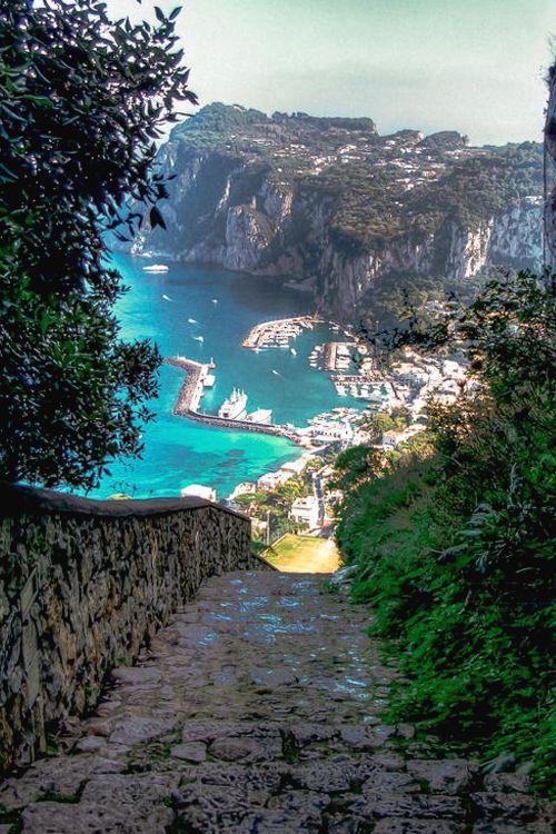 21Road to Capri Harbor, Italy