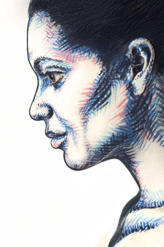 2d-portraits-painted-onto-human-faces-1