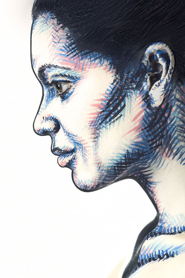 2d-portraits-painted-onto-human-faces-1