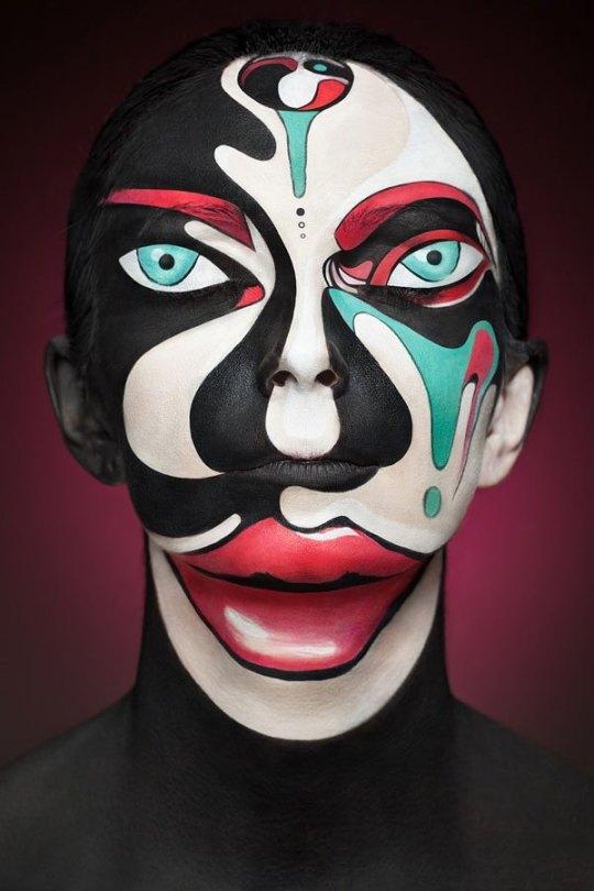 2d-portraits-painted-onto-human-faces-3