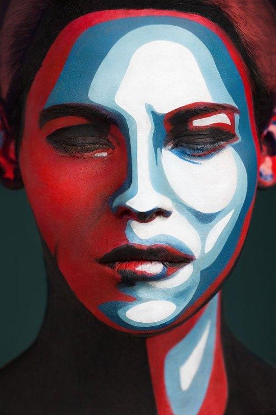 2d-portraits-painted-onto-human-faces-4