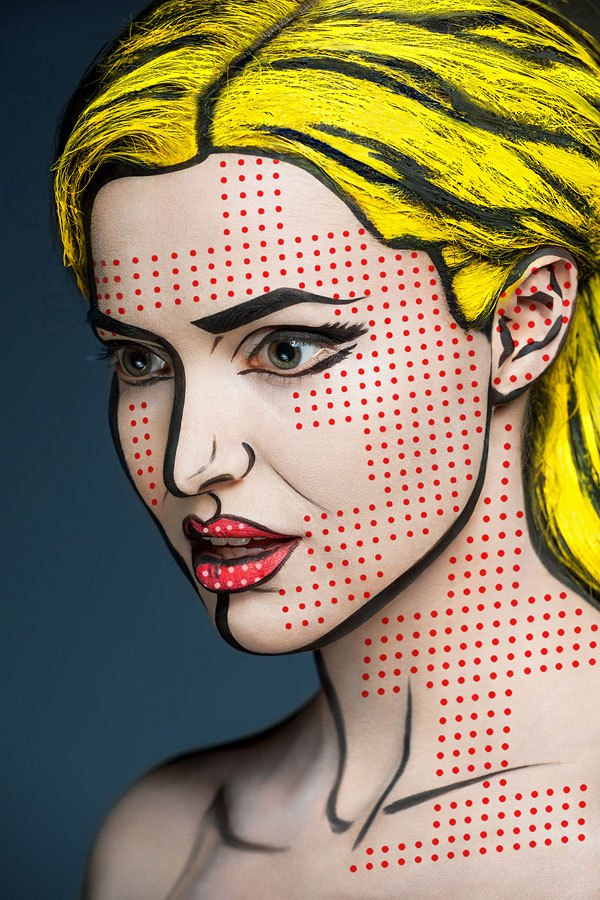 2d-portraits-painted-onto-human-faces-8